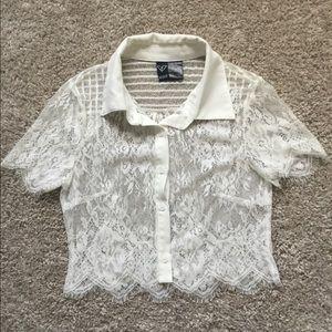 Soft Lace Crop Top